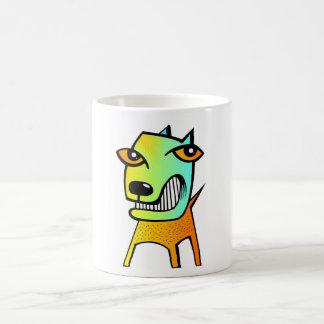animal de mascota divertido del perro del cubismo  tazas de café