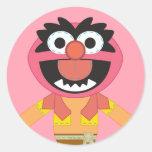 Animal de Pook-a-Looz Etiquetas Redondas