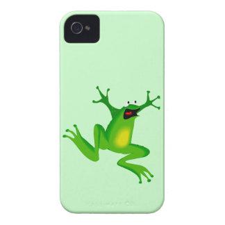 Animal de salto de la rana del dibujo animado dive iPhone 4 Case-Mate carcasas