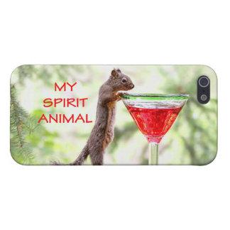Animal del alcohol de la ardilla iPhone 5 cobertura