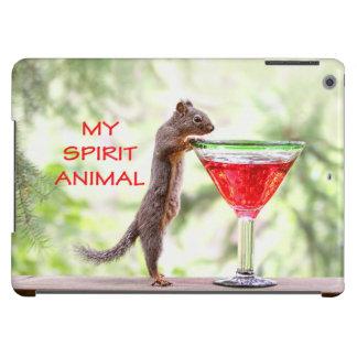 Animal del alcohol de la ardilla funda para iPad air