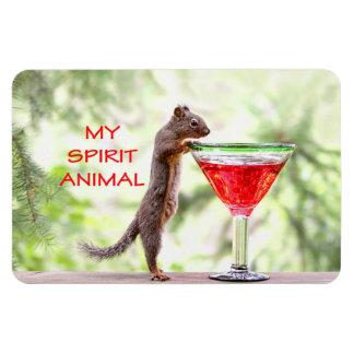 Animal del alcohol de la ardilla imanes de vinilo