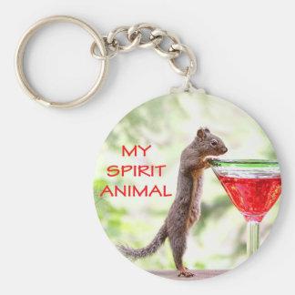 Animal del alcohol de la ardilla llavero