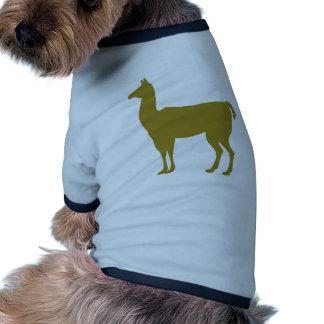 Animal del arte del Mammalia de la granja de Llama Camisetas De Perrito
