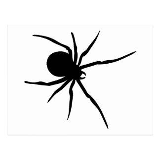 Animal del arte negro de los arácnidos de las postal