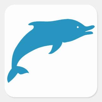 Animal del azul de océano de los pescados de los pegatina cuadrada