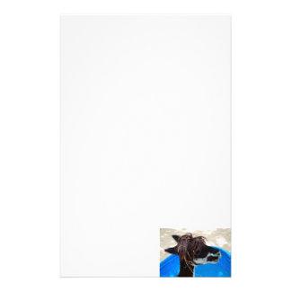 animal del campo azul unkept de la piscina del papelería personalizada