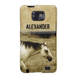 Animal del campo del caballo del campo de Brown de Samsung Galaxy SII Fundas