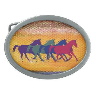 animal del campo del caballo hebillas de cinturón ovales