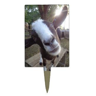 Animal del campo del corral de la cabra figura de tarta