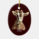 Animal del campo lindo anticuado de la cabra de la ornamento de reyes magos