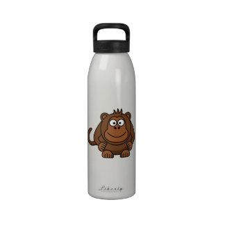 Animal del dibujo animado del mono botellas de beber