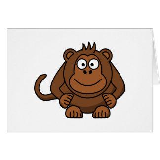 Animal del dibujo animado del mono tarjeta de felicitación