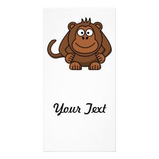 Animal del dibujo animado del mono tarjeta fotográfica