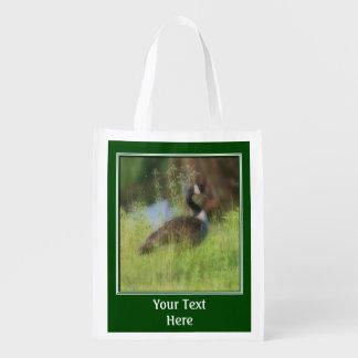 Animal del ganso de Canadá personalizado Bolsa Para La Compra