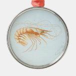 Animal del océano de la vida marina del vintage; A Adorno De Navidad