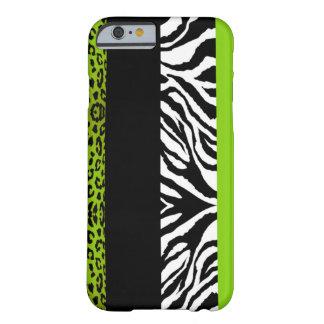 Animal del personalizado del leopardo y de la funda para iPhone 6 barely there