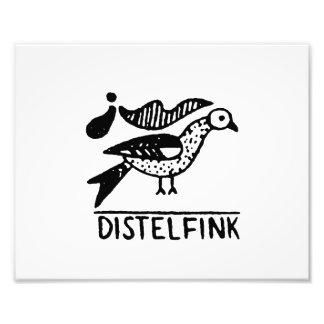 animal dentado design.png del vintage del distelfi impresión fotográfica
