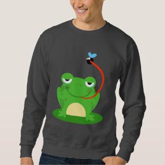 Animal divertido anfibio del dibujo animado del sudaderas encapuchadas