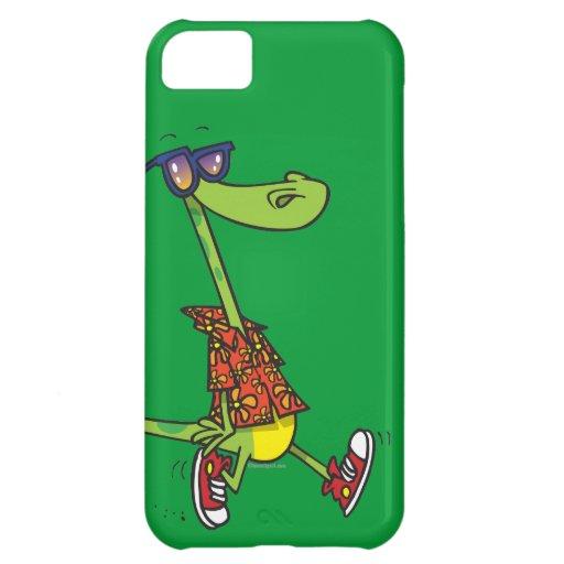 animal divertido tonto del dibujo animado del laga funda para iPhone 5C
