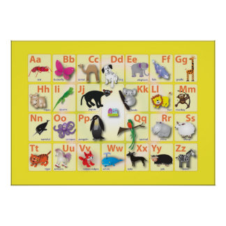 Animal domain on a large picture poster