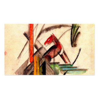 Animal drawing by Franz Marc Expressionist painter Business Card