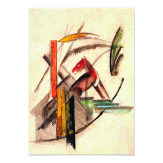 Animal drawing by Franz Marc Expressionist painter Card