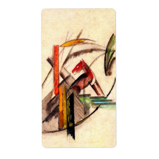 Animal drawing by Franz Marc Expressionist painter Label