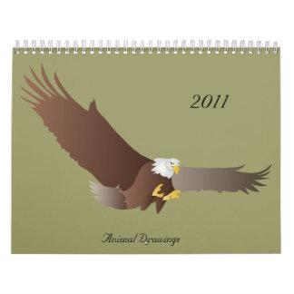 Animal Drawings, 2011 Calendar