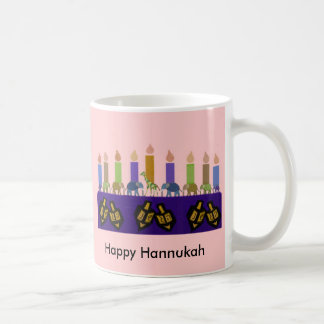 Animal Dreidel Hannukah Menorah Mug