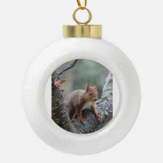Animal dulce adorno de cerámica en forma de bola