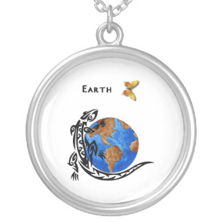 Animal Earth Round Pendant Necklace