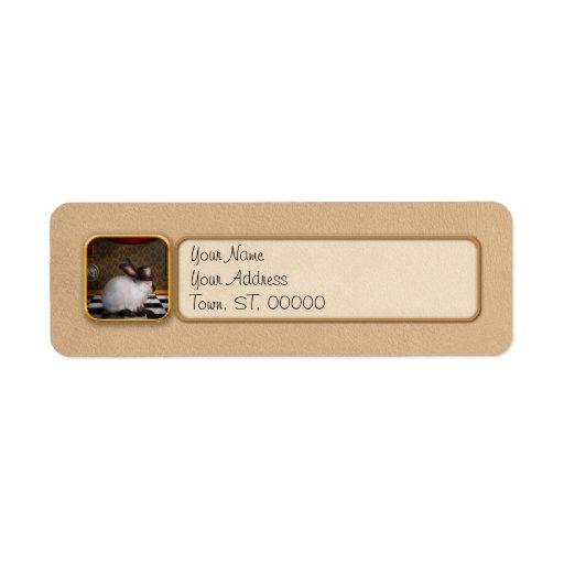 Animal - el conejo etiqueta de remite
