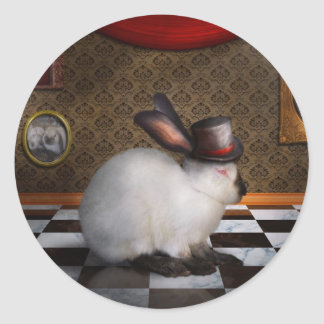 Animal - el conejo pegatina redonda