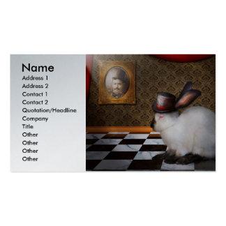 Animal - el conejo - revés plantillas de tarjetas personales