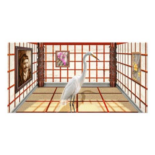 Animal - el Egret Tarjetas Fotograficas Personalizadas
