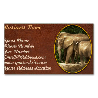 Animal - Elephant - Tight knit family Magnetic Business Card