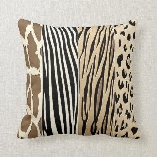 Animal Embossed Printed Zebra Stripe Pillow