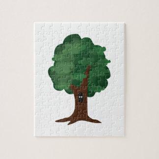 Animal en árbol rompecabezas con fotos