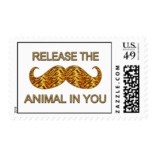 Animal en usted bigote de la raya del tigre sellos