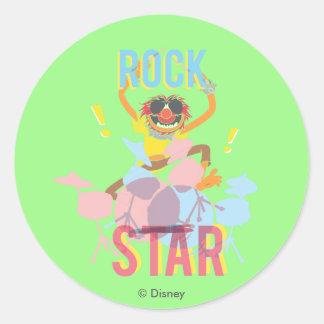 Animal - estrella del rock pegatina redonda