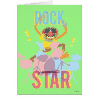 Animal - estrella del rock tarjeta de felicitación