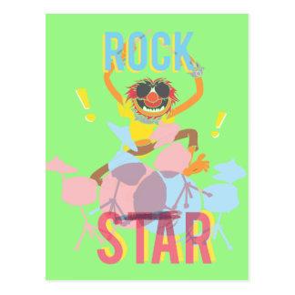 Animal - estrella del rock tarjetas postales