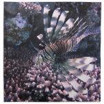 Animal exótico de los pescados servilletas de papel