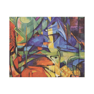 animal expression abstract wall canvas art