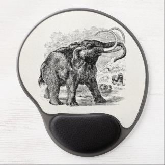 Animal extinto personalizado del mamut lanoso del alfombrillas de ratón con gel
