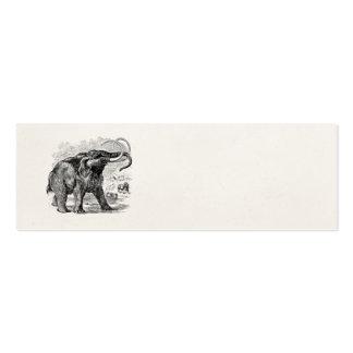Animal extinto personalizado del mamut lanoso del plantillas de tarjetas personales