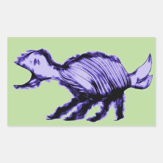Animal extranjero graznador pegatina rectangular