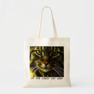 Animal Face Hypnotizing Cat Eyes Tote Bag