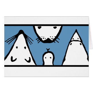 Animal Faces Greeting Card